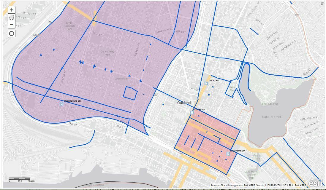 OakDot Major Projects Map