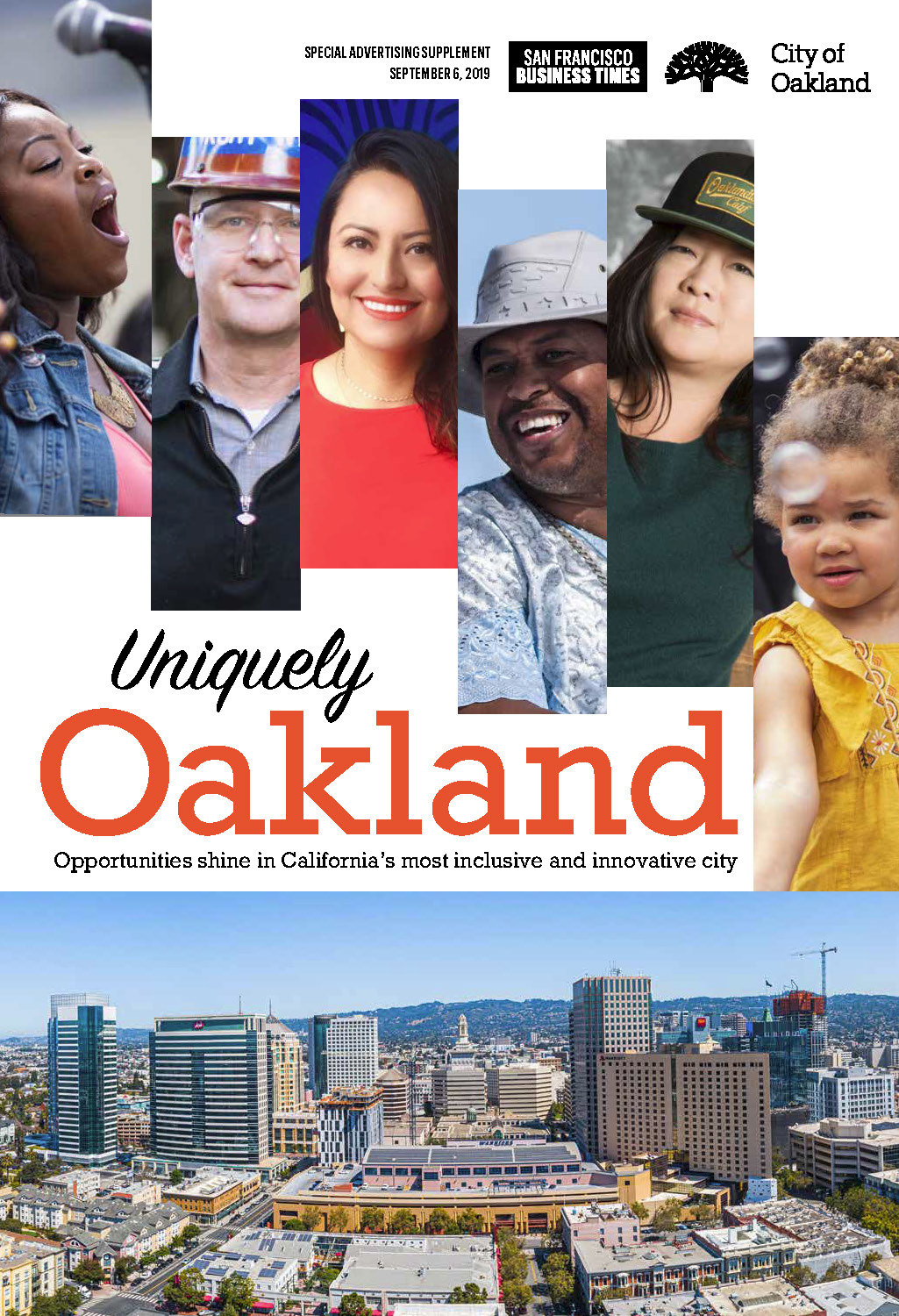 cover of the Uniquely Oakland insert in the September 6, 2019 issue of the San Francisco Business Times