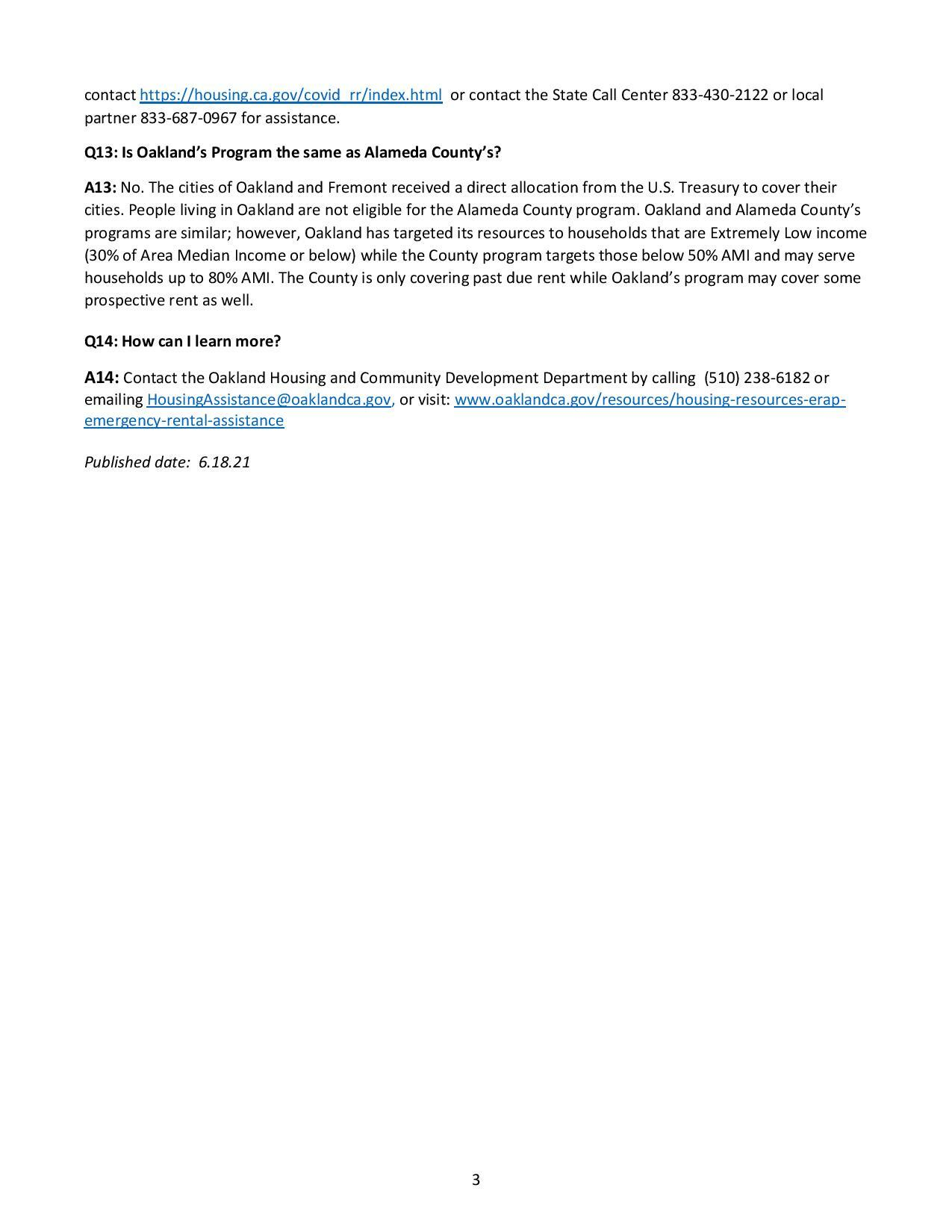 Oakland Renter Relief FAQ page 3 of 3