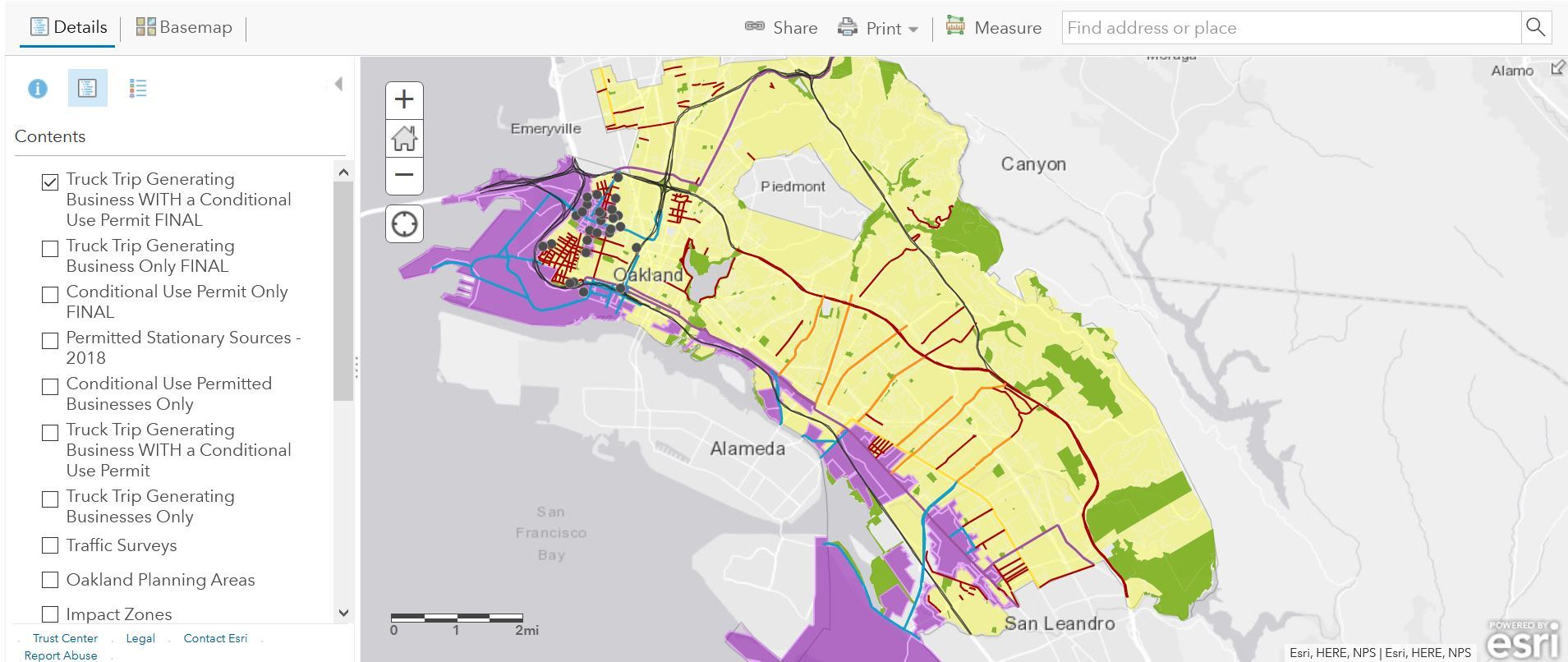 Zoning and Air Pollution Mapping Tool