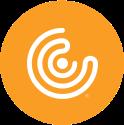 CC logo spiral yellow circle image branding