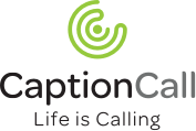 CaptionCall logo vertical branding footer style