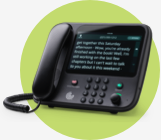 CaptionCall Phone on green circle branding