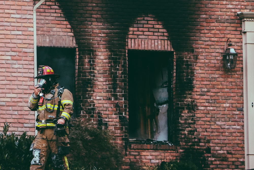 post house fire - fire damage restoration