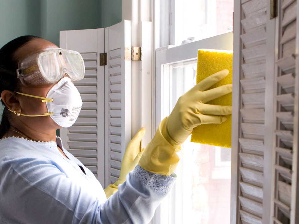 woman performing deep cleaning service