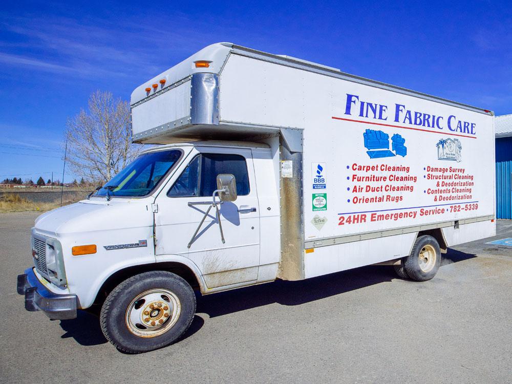 water damage restoration emergency service vehicle'