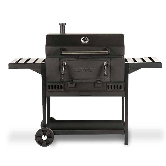 Masterbuilt 30 in Charcoal Grill will lid open