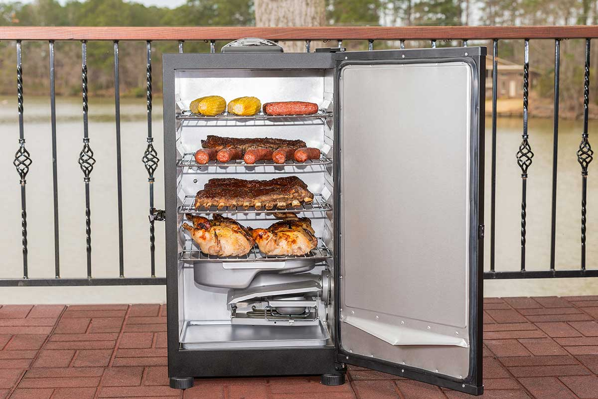 Four racks give you enough room to cook for a crowd