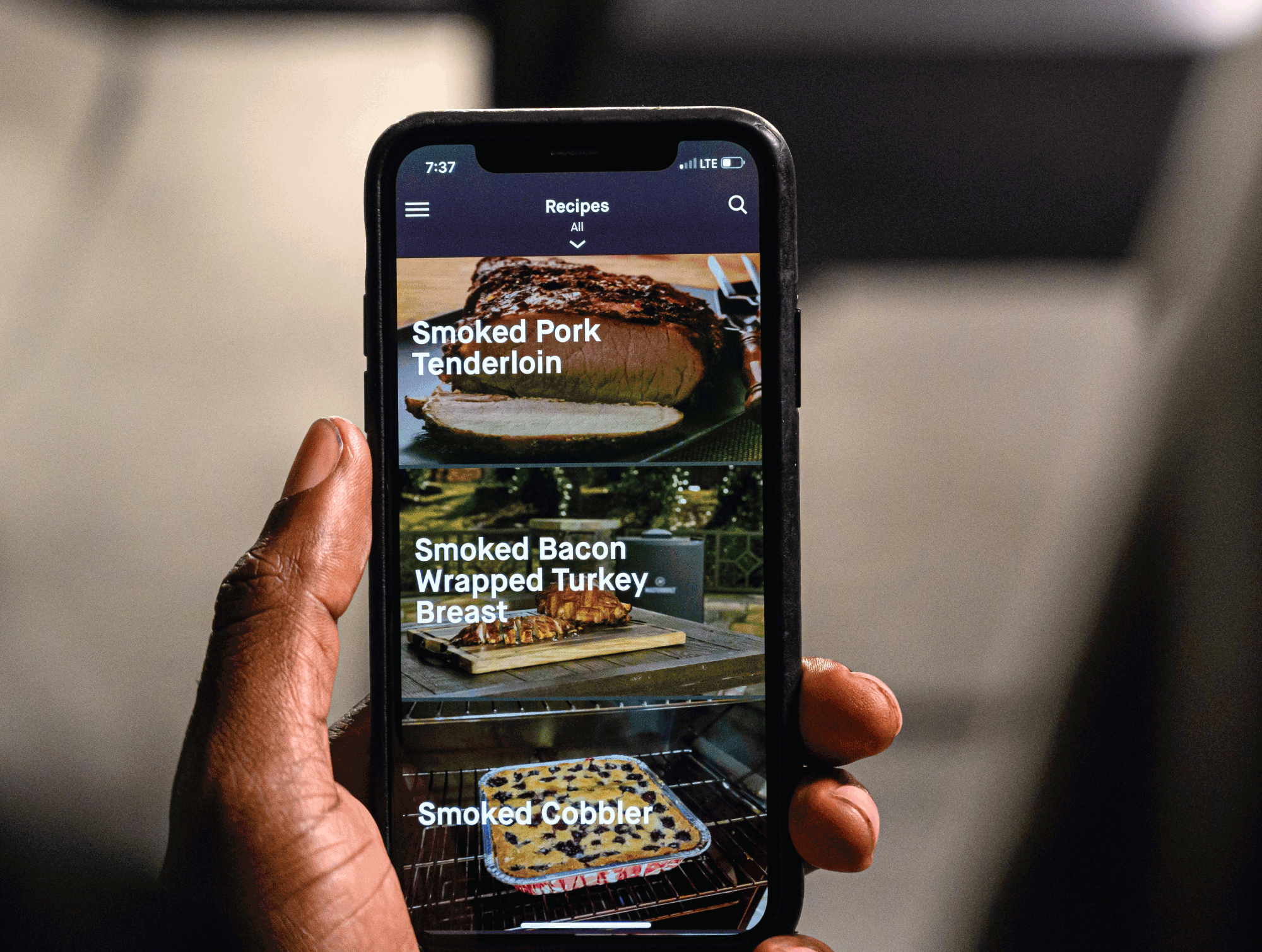Find recipes in the Masterbuilt App