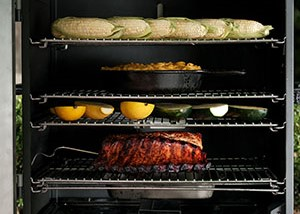 Four racks let you cook for a crowd