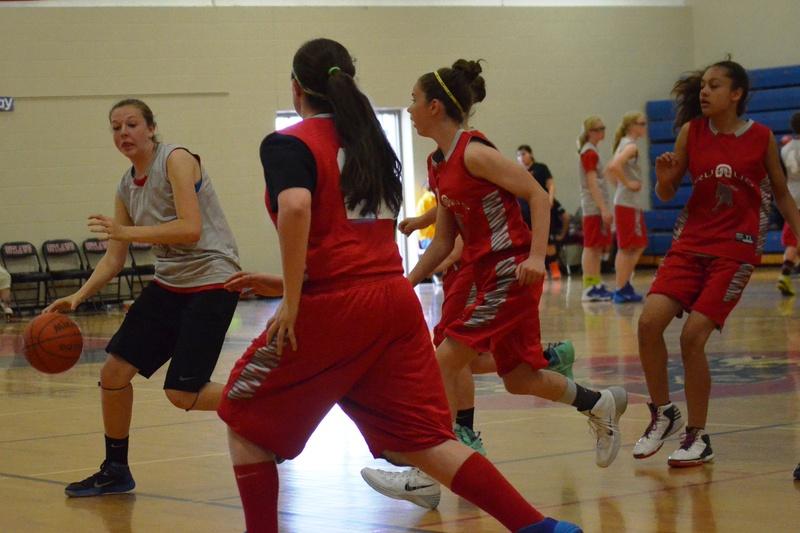 Girl's youth basketball