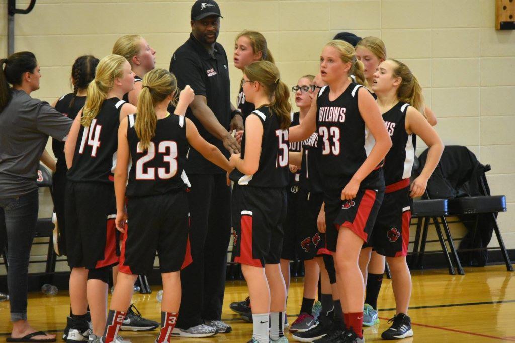 Pregame huddle with Coach Eddie