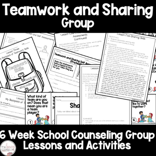 Teamwork and Sharing 6 Week Small Group School Counseling Plan's featured image