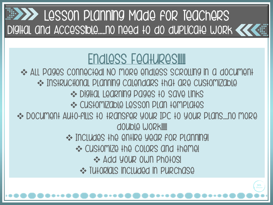 Ultimate Yearly Lesson Planner ***Digital***