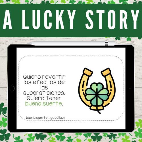 Spanish CI Story on Luck: Boom Cards & Digital Version