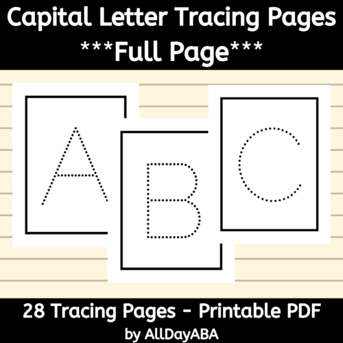 Alphabet Tracing Worksheets - Capital Letters - Full Page's featured image
