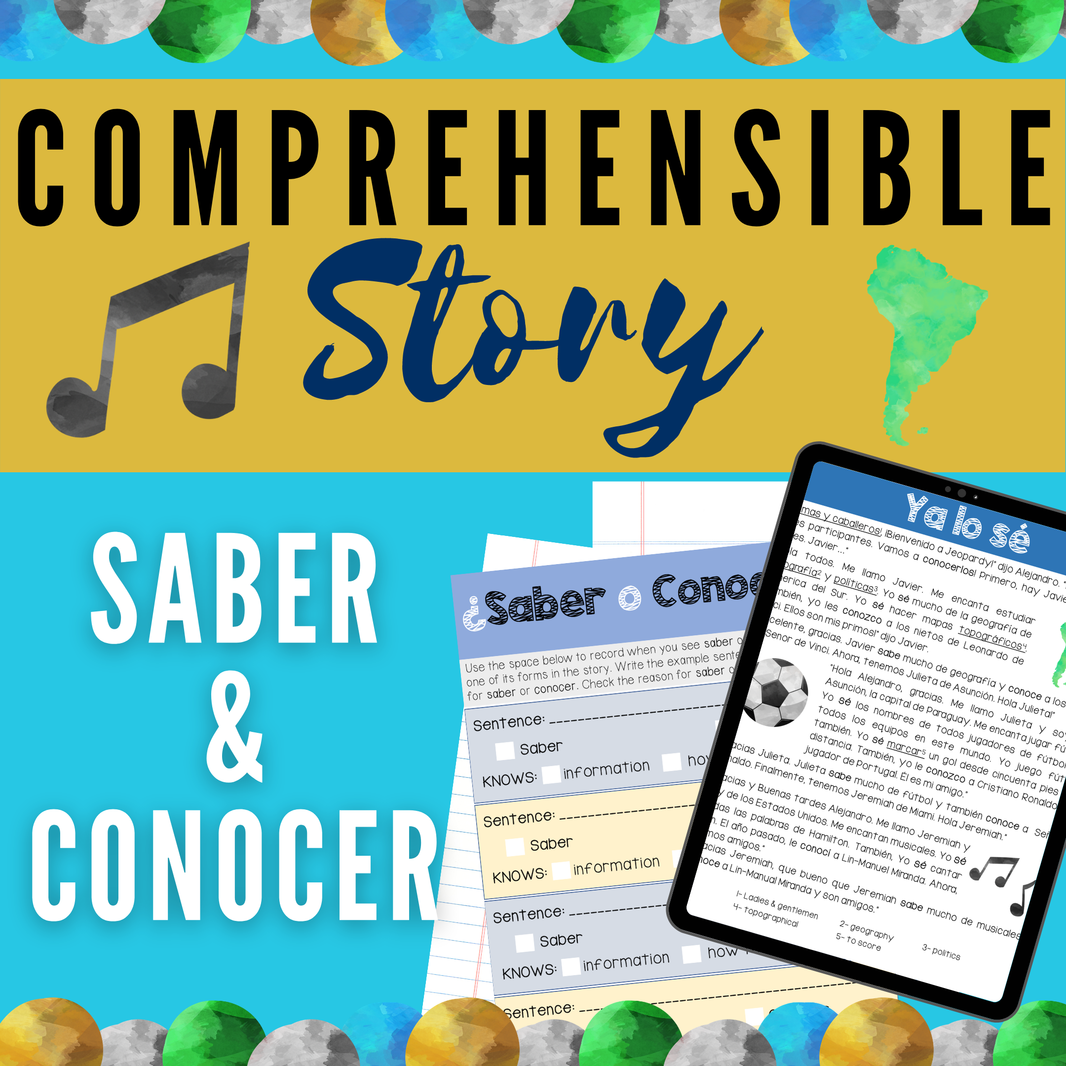 Spanish CI Story & Activities: Saber vs. Conocer's featured image