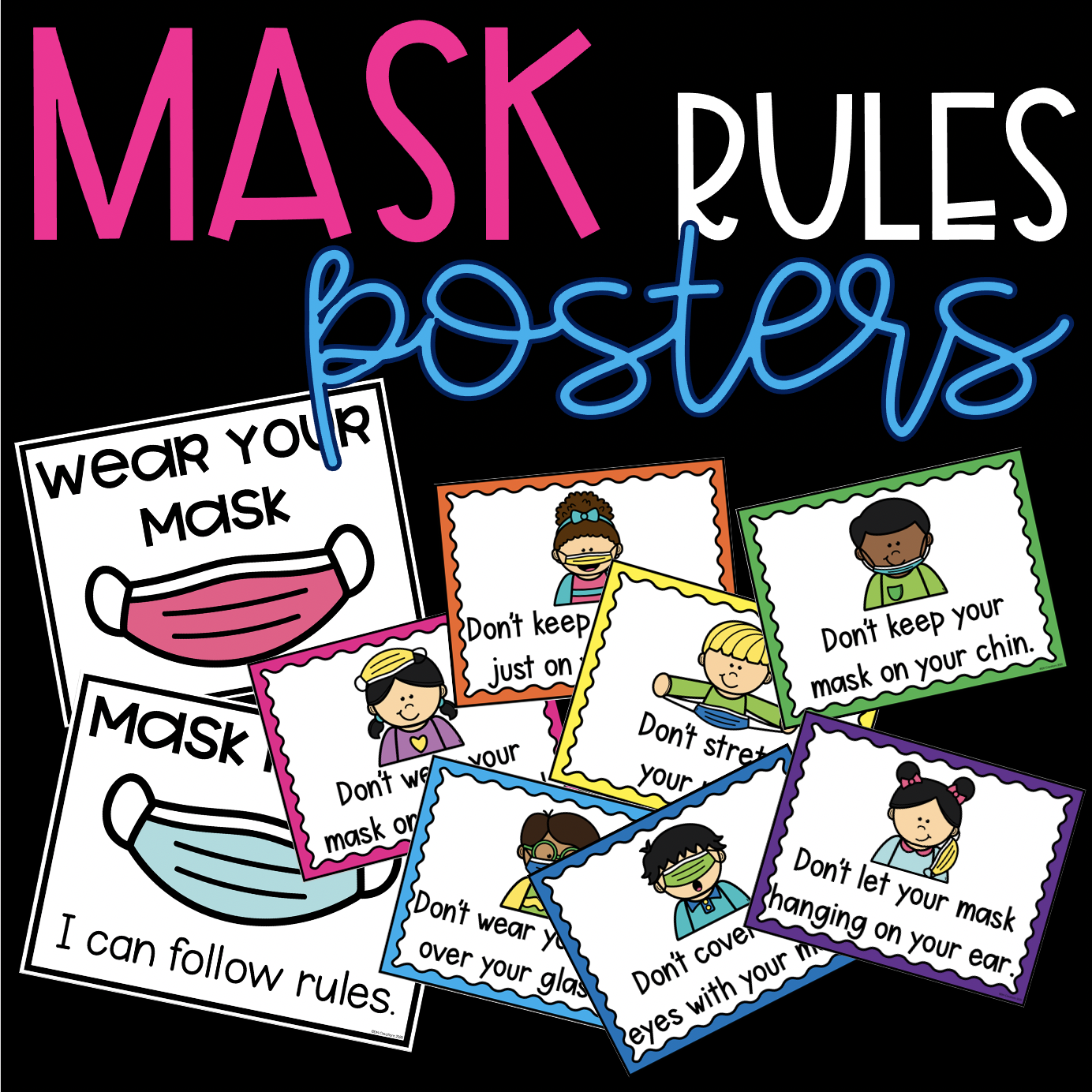 Mask Rules Poster