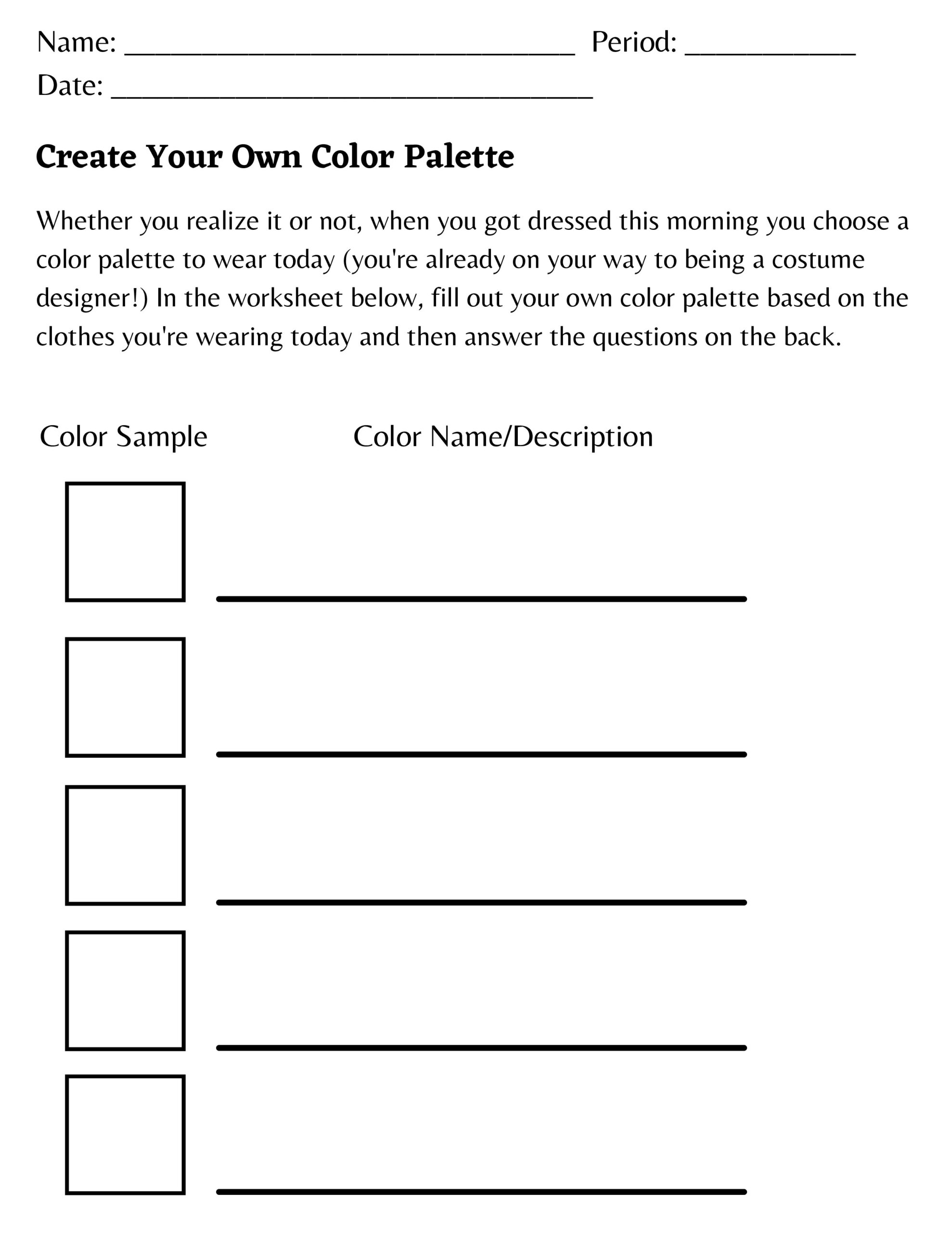You're Wearing a Color Palette!