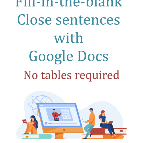 Google Docs fill-in-the-blank documents without tables
