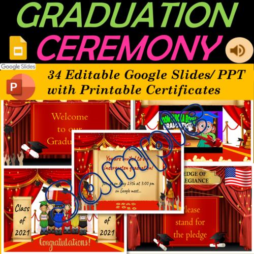 Virtual Graduation Certificates & Ceremony  Pre-K, TK, Kindergarten to 5th Grade