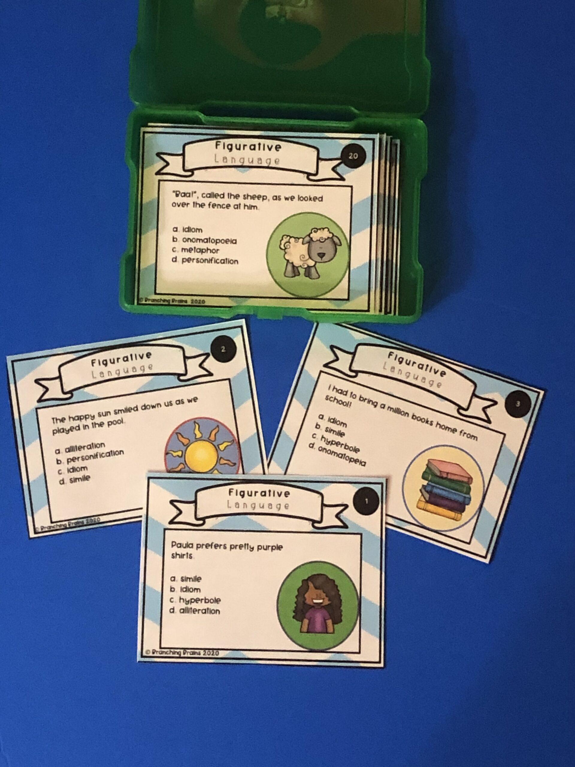 Figurative Language Types Task Cards