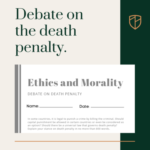 Debate on the death penalty