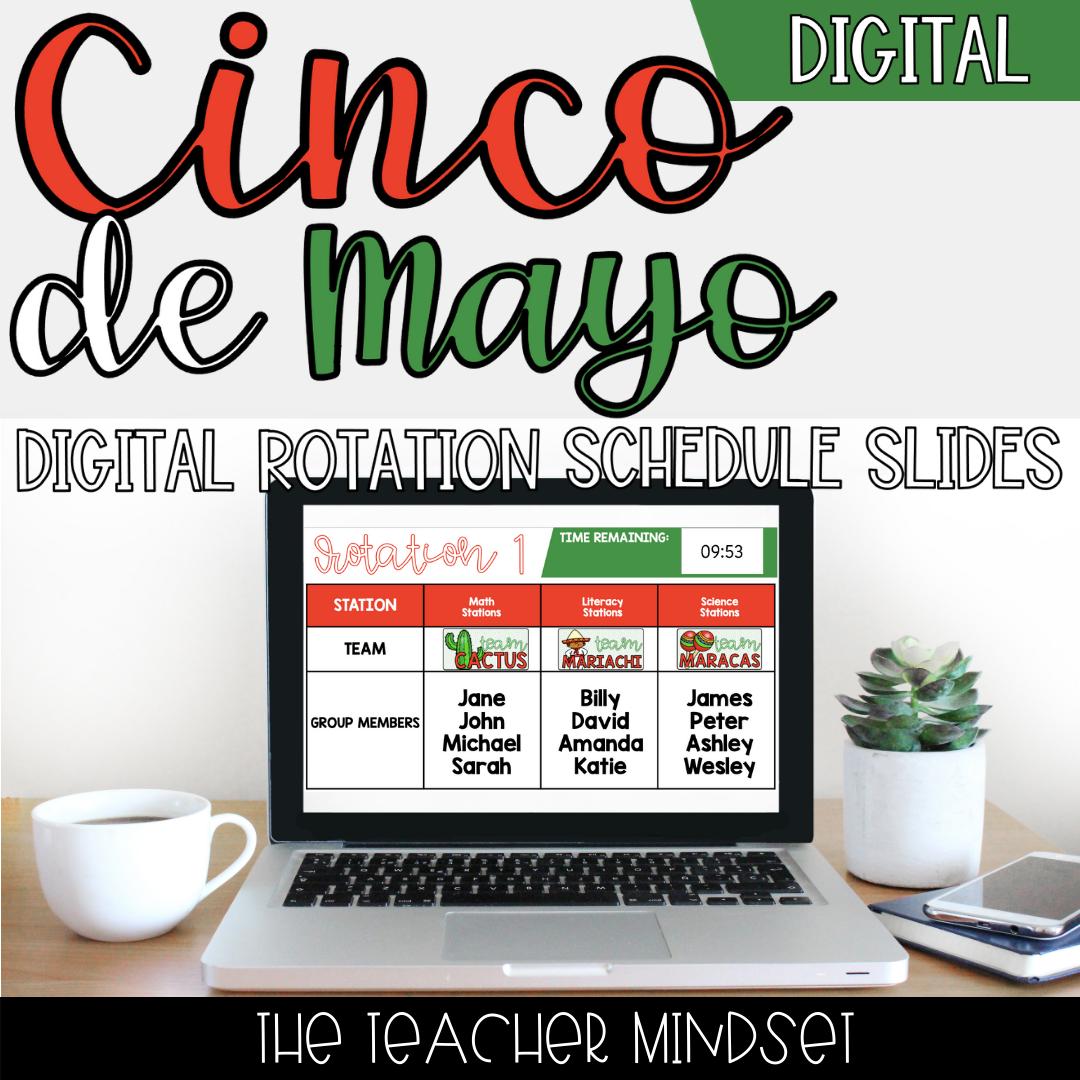 Digital Rotation Schedule Slides | Cinco de Mayo Theme | Slides & PowerPoint