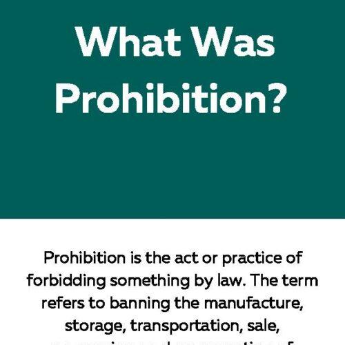 Prohibition, Reading Passage