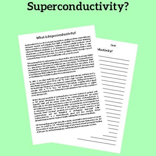 Superconductivity, Reading Passage