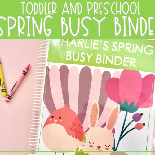 Spring Busy Binder   Preschool Learning Activities