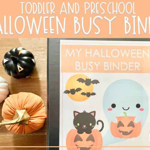 Halloween Busy Binder   Preschool Learning Activities