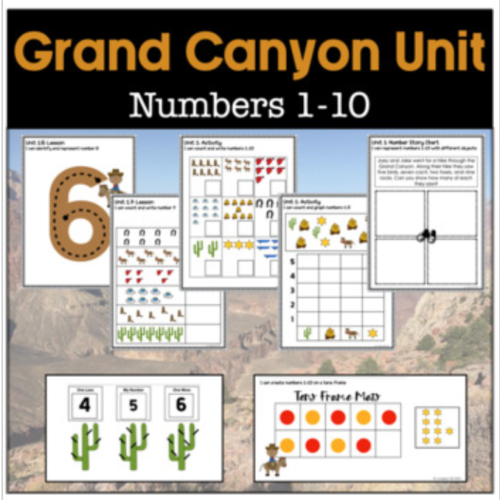 Grand Canyon Themed Unit Numbers 1-10