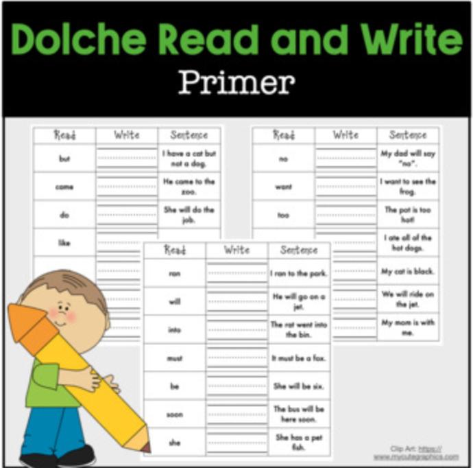 Read Write Sentence Dolche Primer