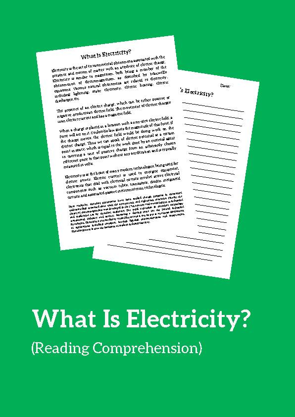 Electricity, Reading Passage
