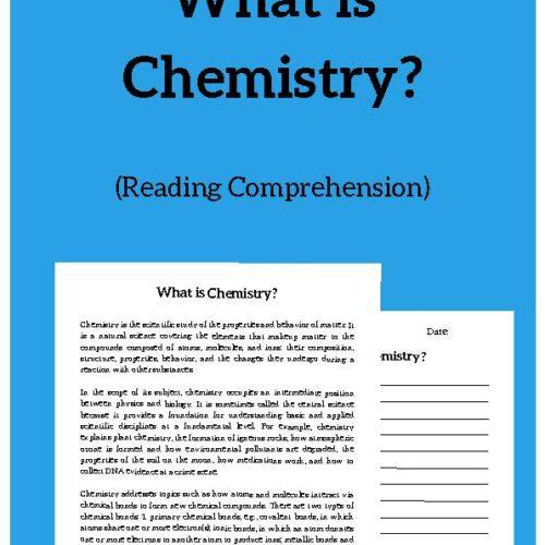 Chemistry, Reading Passage