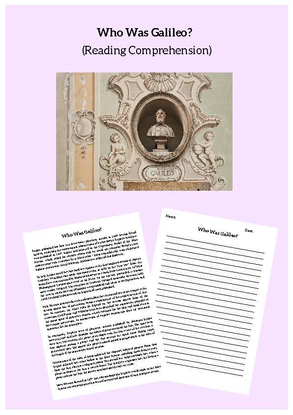 Galileo, Reading Passage