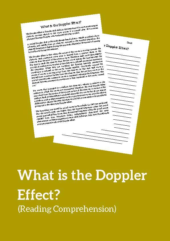 Doppler Effect, Reading Passage