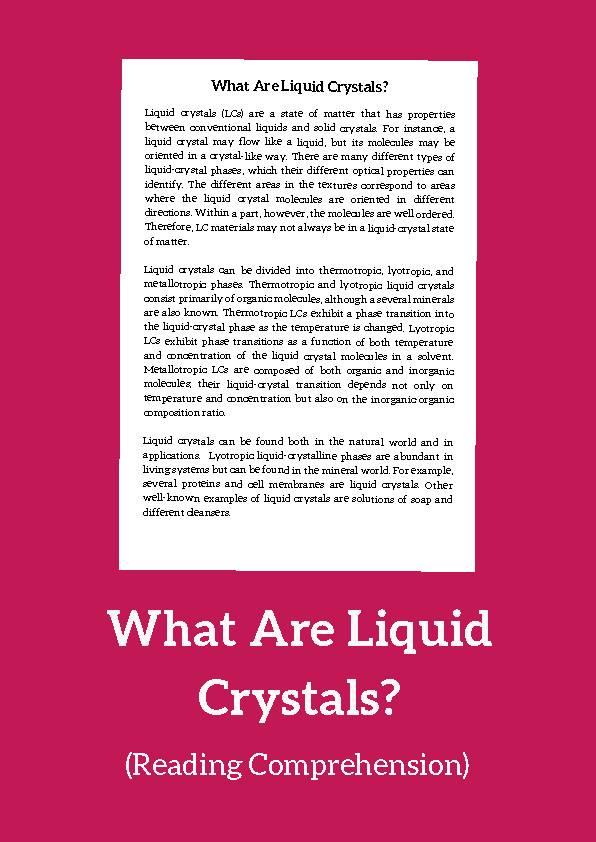 Liquid Crystal (Reading Comprehension)