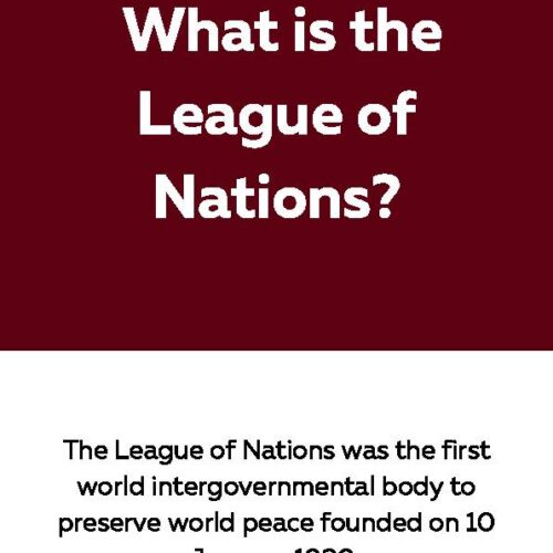 League of Nations, Reading Passage