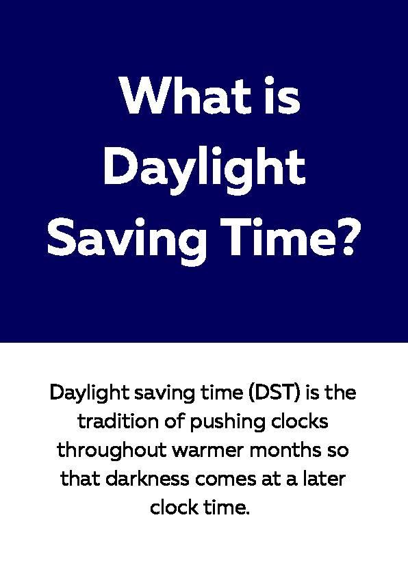 Daylight Saving Time, Reading Passage