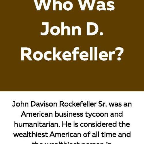John D. Rockefeller, Reading Passage