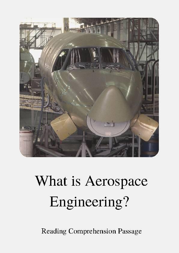 Aerospace Engineering, Reading Passage