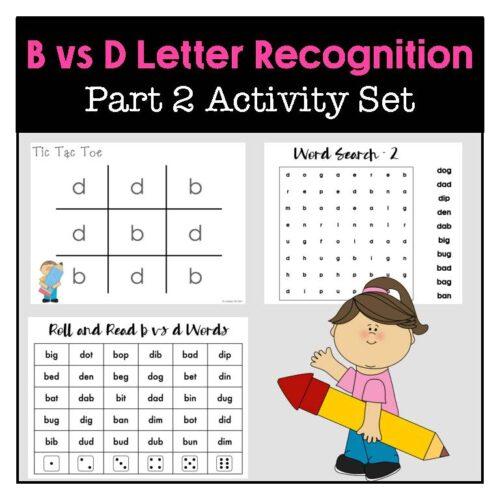 B vs D Letter Recognition Part 2