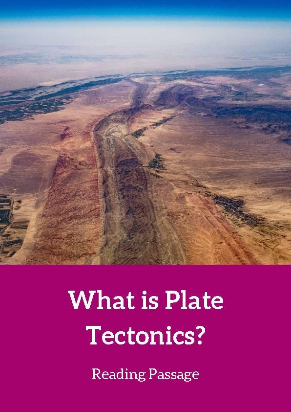 Plate Tectonics, Reading Passage