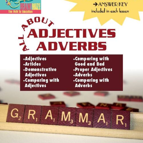 Adjectives, articles, demonstratives, proper adjectives, adverbs, comparisons