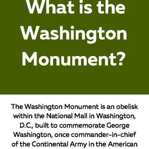 Washington Monument Reading Passage