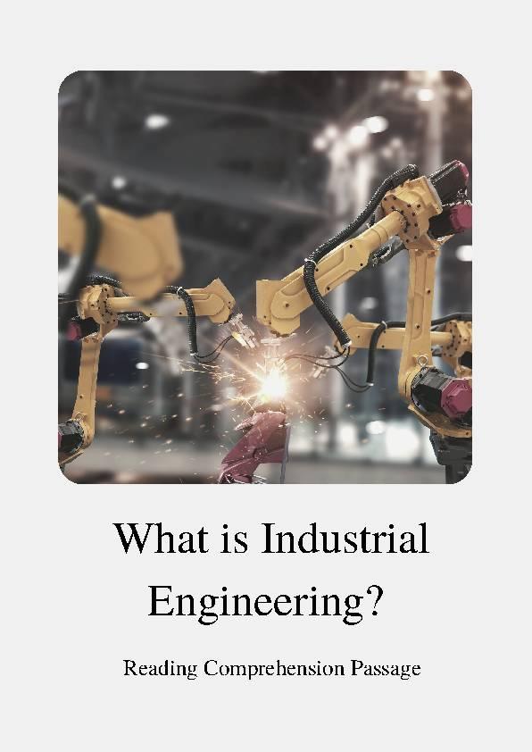 Industrial Engineering, Reading Passage