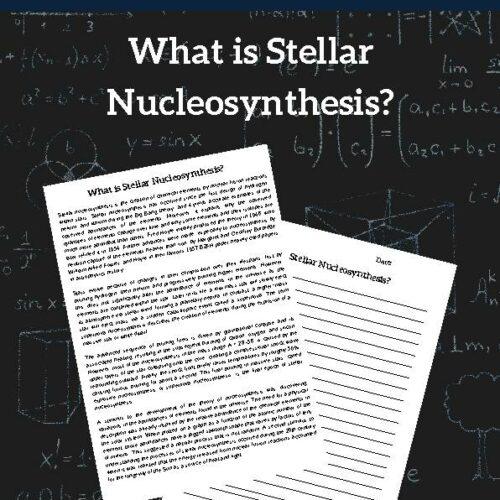 Stellar Nucleosynthesis, Reading Passage