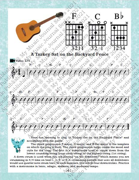 My Music Journal - Music Textbook for Eighth Grade